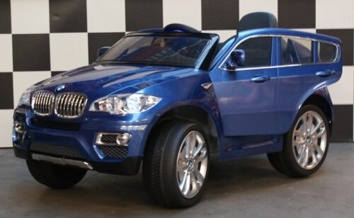 BMW X6 accu auto 12v rc blauw