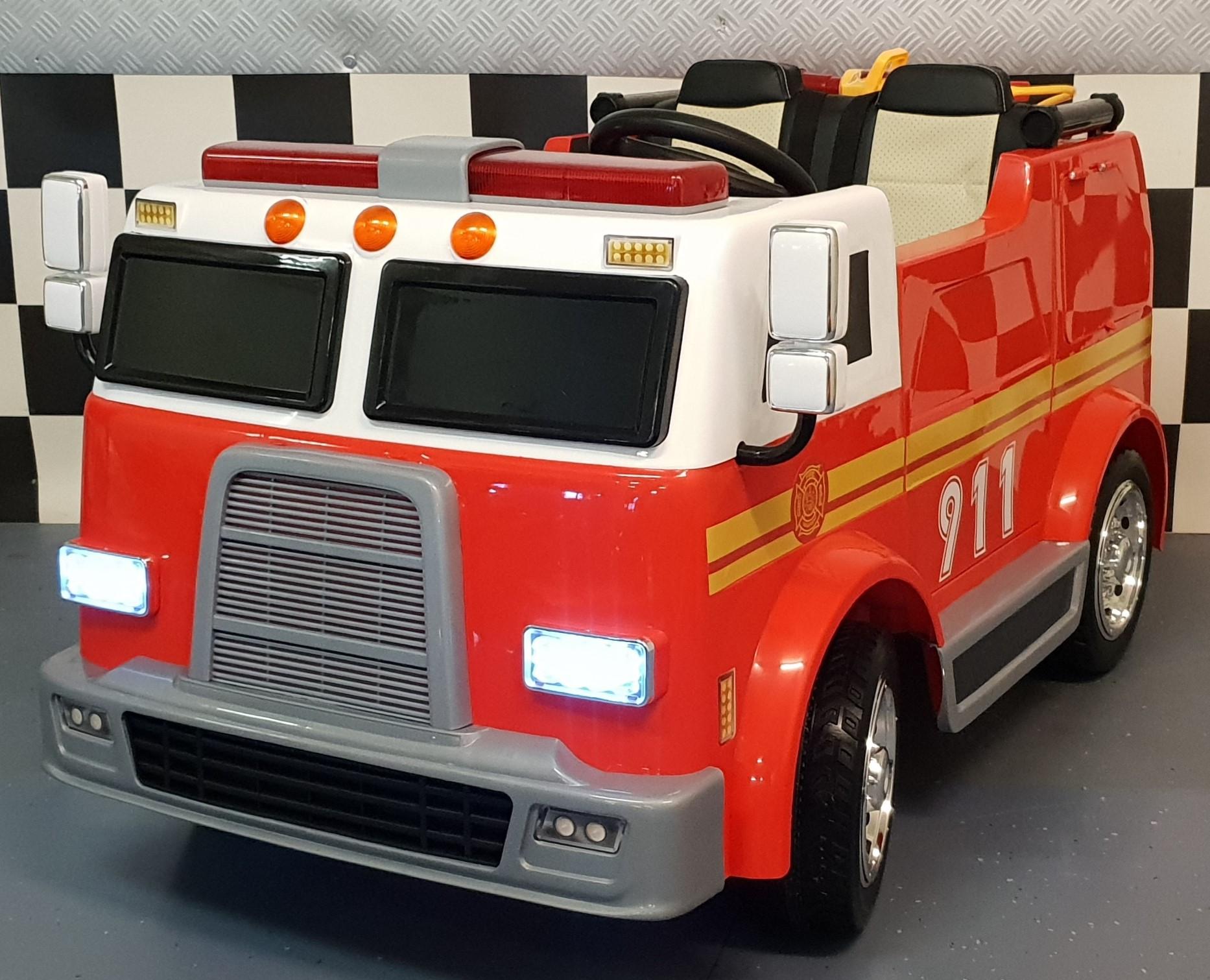 2 persoons  elektrische brandweer kinderauto 12V 2.4G RC