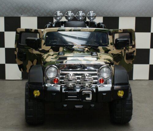Kinder accu jeep leger groen 12 volt