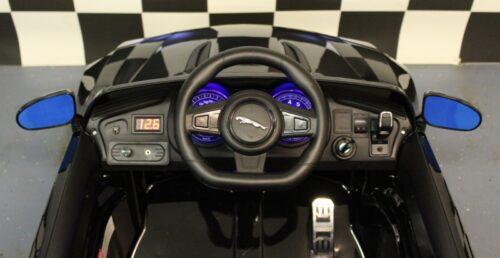 dashboard jaguar f type metallic zwarte kinderauto