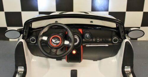 12 volt 2 persoons Mini Cooper accu auto wit met afstandbediening