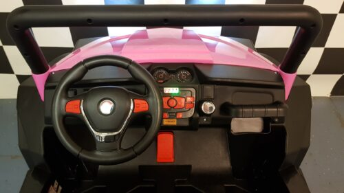Dashboard roze kinderjeep