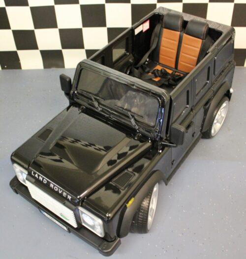 12 volt Land Rover kinderauto met afstandbediening zwart