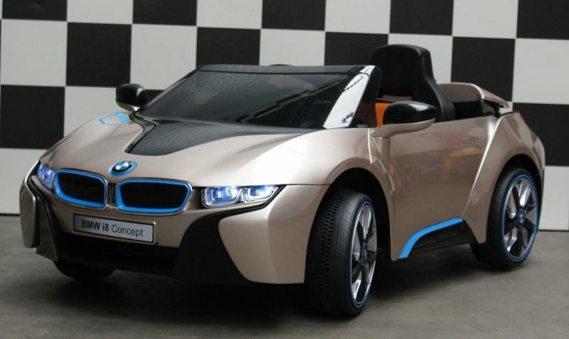 Elektrische kinderauto BMW i8 12V 2.4G RC leren ziting met radio/usb