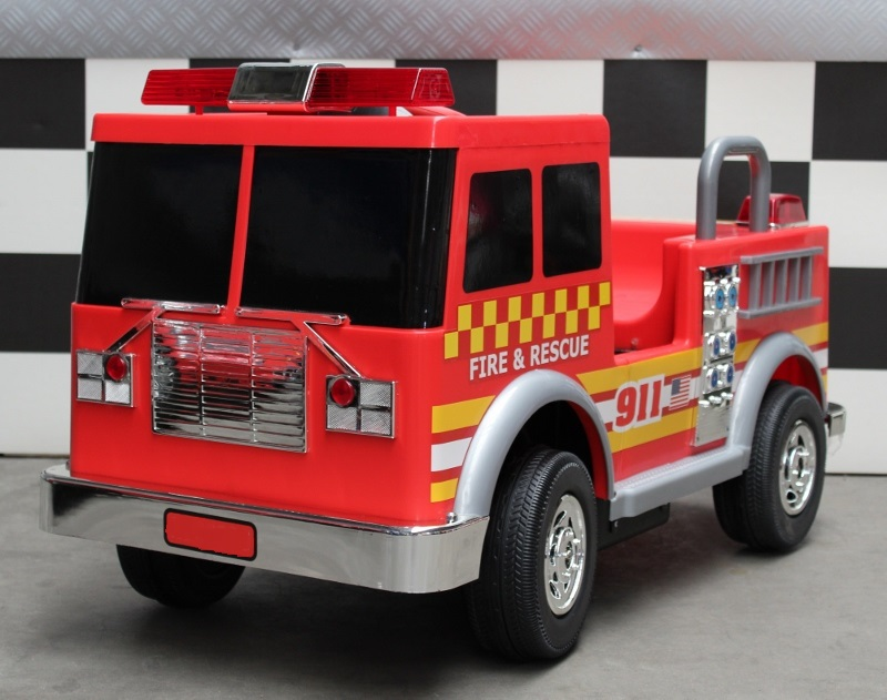 fire truck elektrische kinderauto brandweer 12 volt met. Black Bedroom Furniture Sets. Home Design Ideas