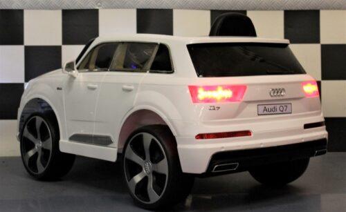 Witte Audi Q7 accu auto 2.4G afstandbediening