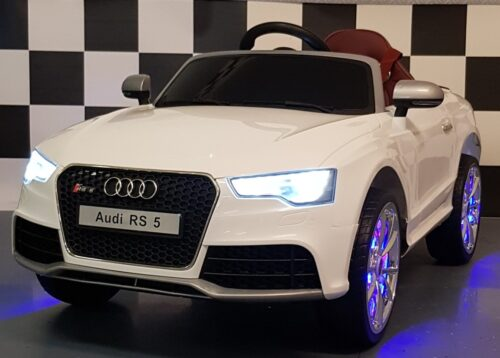 Kinderauto Audi RS 5 wit 12 volt 2.4G RC