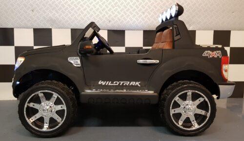 Ford Ranger kinderauto met 2.4G RC bediening mat zwart 12v