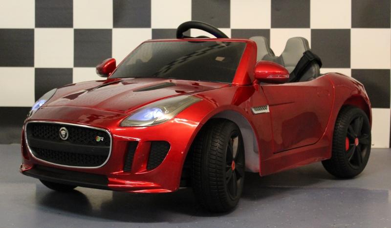 elektrische kinderauto Jaguar F-Type 12V 2.4G RC metallic rood