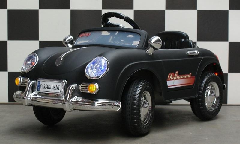 Mini Speedster accu speelgoed auto 12V 2.4G RC mat zwart