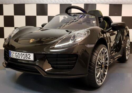 Porsche 918 Spyder kinderauto zwart