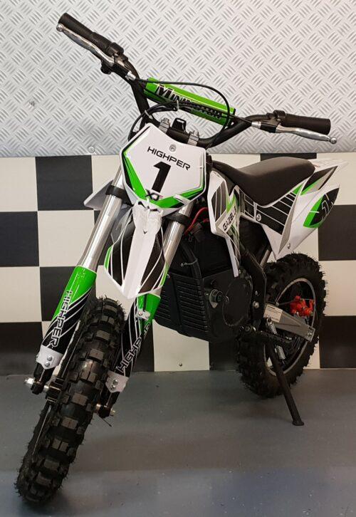 36 volt elektrische crossmotor groen