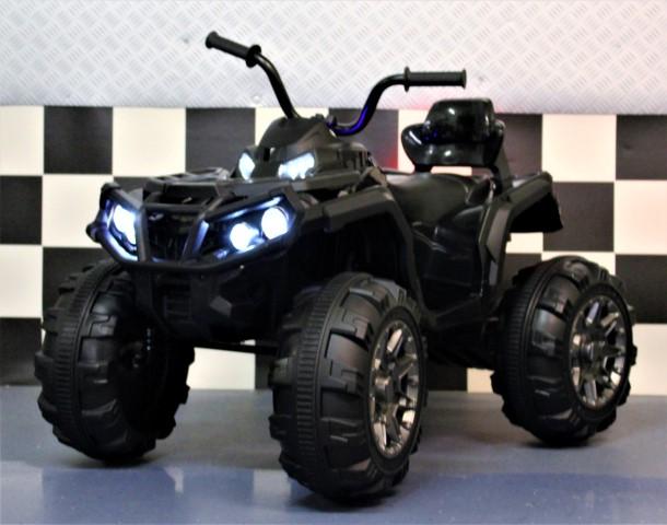 Zwarte 12 volt elektrische kinder quad