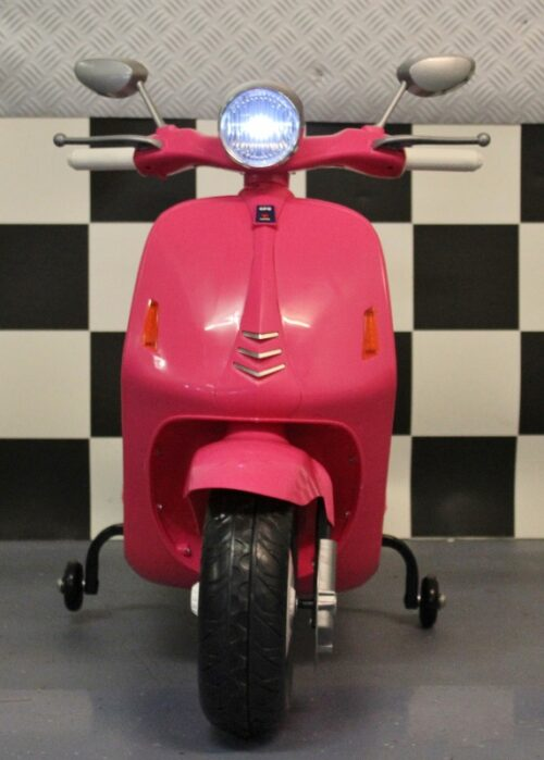 Roze kinderscooter Retro 12 volt accu