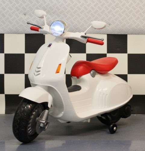 Kinderscooter 12 volt wit