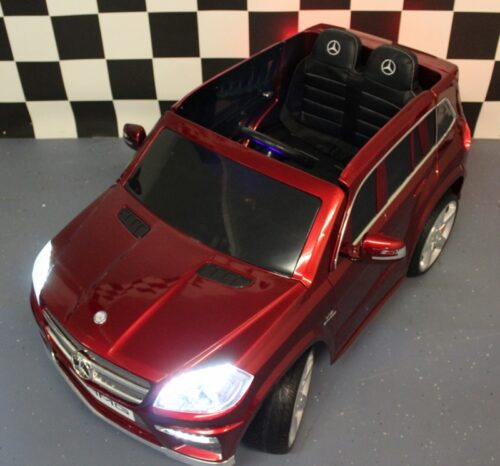 MB GL63 kinderauto metallic rood 12V 2.4G RC