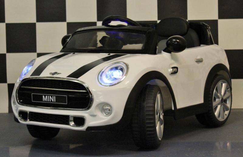 Speelgoed auto Mini Cooper 12V 2.4G RC en leren zit
