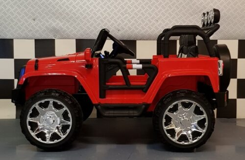 2x12 volt elektrische kinderjeep Power 4WD en RC rood