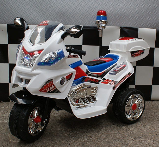 Elektrische speelgoed kindermotor Police 6 volt