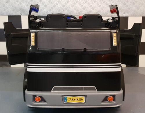 Elektrische politie kindertruck zwart 12 volt 2.4G