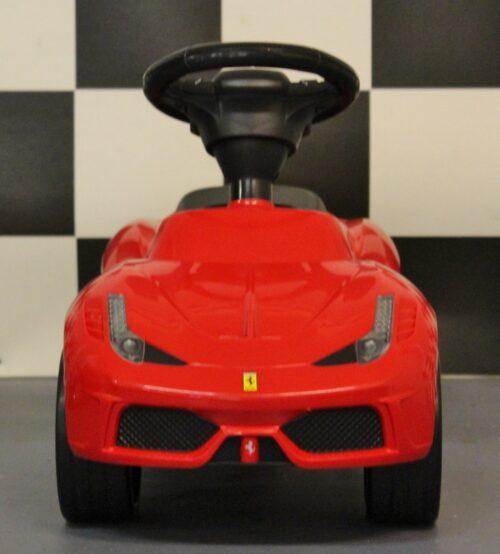 Rode kunststof loopauto Ferrari