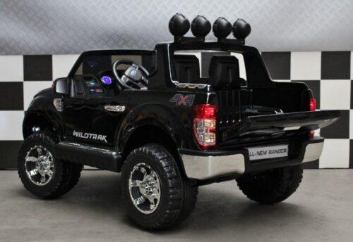 Metallic zwarte Ford Ranger kinderauto 2.4G RC 12V accu