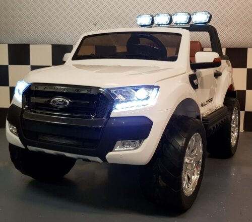 Ford New Ranger witte kinderauto 2.4G RC 2x12V
