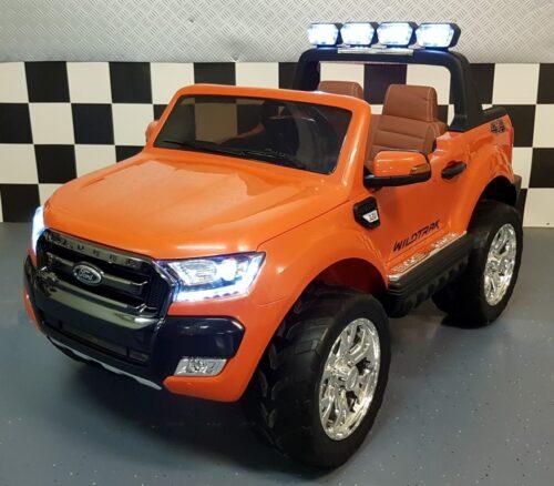 Ford New Ranger elektrische 4WD kinderauto 12 volt oranje