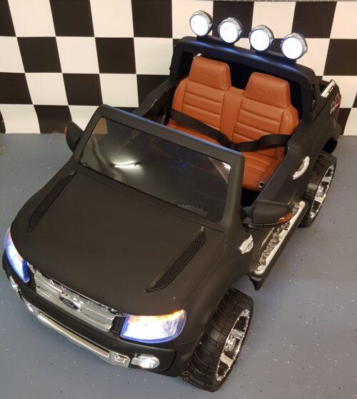 Kinder accu auto Ford mat zwart afstand bestuurbaar 12 volt