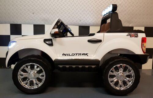 Witte Ford elektrische kinderauto 2x12V 2.4G afstandbediening