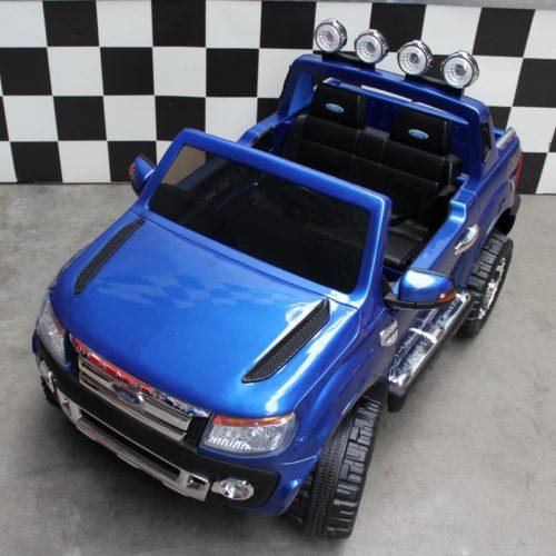 Speelgoedauto 12 volt Ford Ranger blauw 2.4G RC bediening