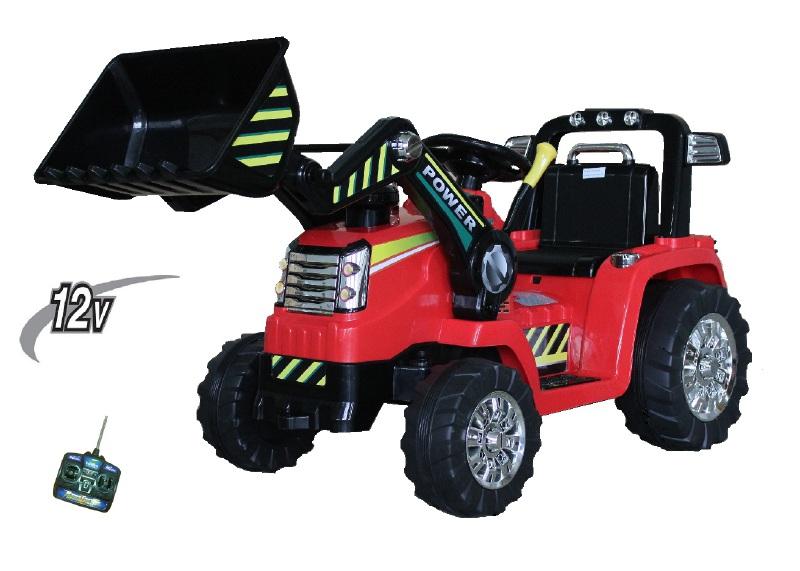 Elektrische kinder accu speelgoed tractor 12Volt met afstandbediening rood
