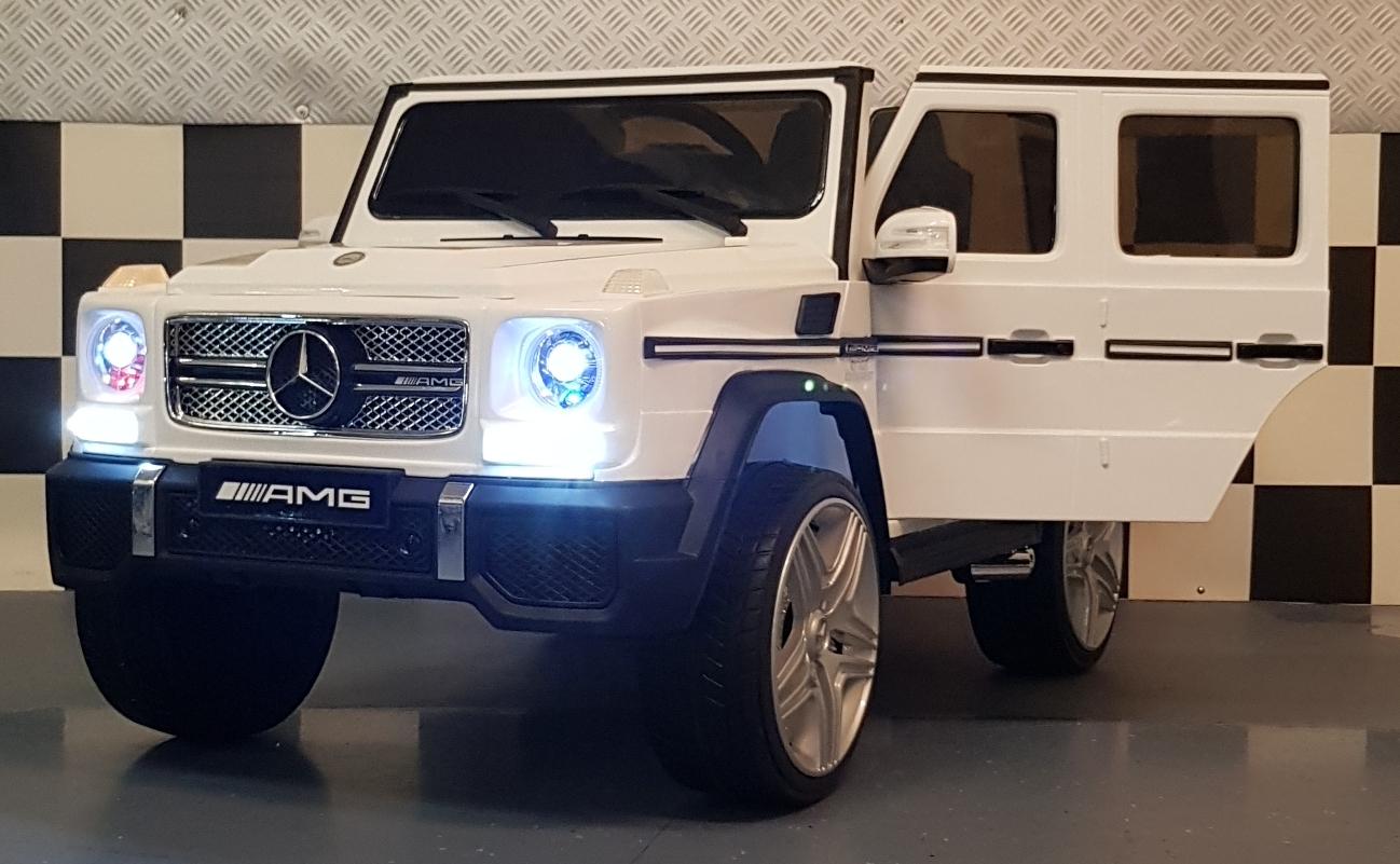 Kinderauto 12V Mercedes G65 2.4G afstandbediening wit