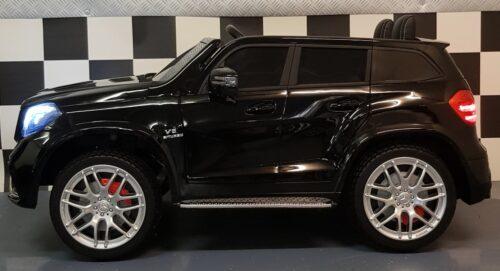 Zwarte 12 volt Mercedes GLS 2 persoons speelgoedauto