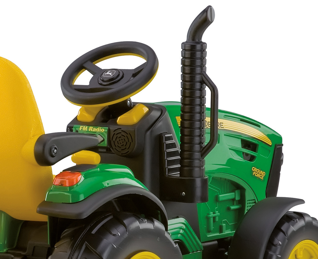 john deere elektrische accu kinder tractor 12volt. Black Bedroom Furniture Sets. Home Design Ideas