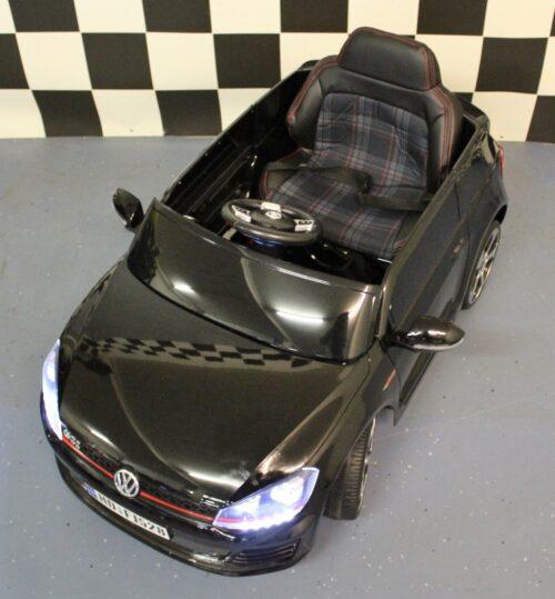 Kinderauto volkswagen golf GTI 12v RC zwart