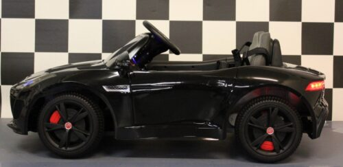 jaguar elektrische kinderauto 12 volt rc zwart