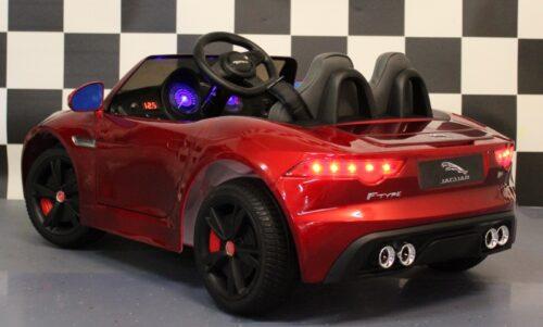 Speelgoedauto jaguar F-Type 12V 2.4G RC bediening rood