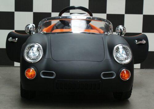 Kinderauto Retro 356 mat zwart 12 volt rc