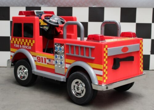 Brandweer kinderauto 12 volt accu
