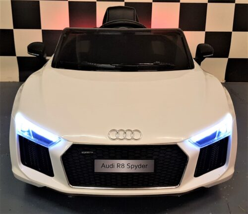 Audi R8 kinderauto wit 2.4G RC 12 volt wit