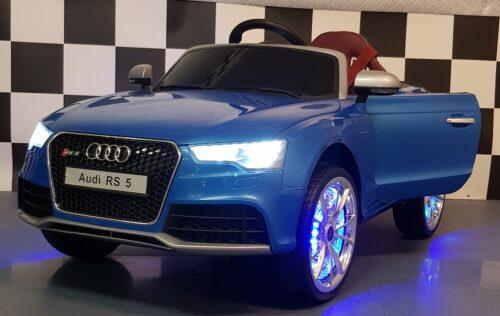 Audi RS 5 blauwe kinderauto 2.4G Rc 12V