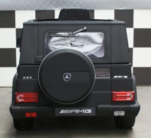 Mat zwarte Mercedes Benz G63 kinderjeep 2.4G afstandbediening