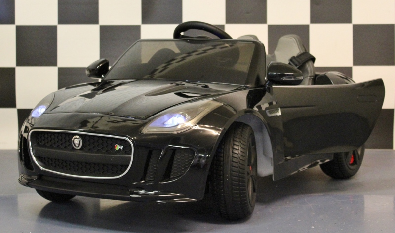 Accu Kinderauto Jaguar F-Type 12V 2.4G RC metallic zwart