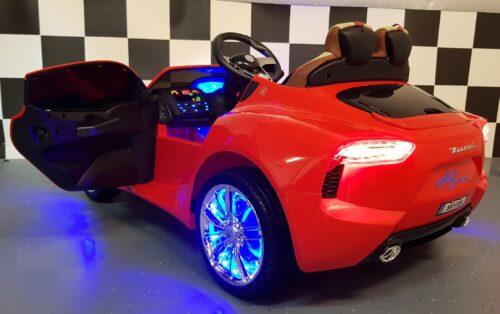 Rode Maserati accu speelgoedauto 12 volt