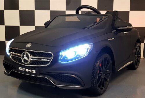 S63 Mercedes AMG mat zwarte speelgoedauto 2.4G RC 12V