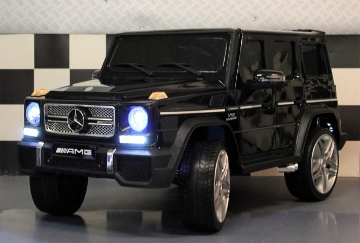 Elektrische kinderauto Mercedes G65 12volt metallic zwart