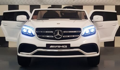 Mercedes GLS witte 2 persoons kinderauto