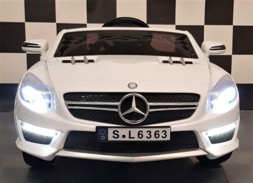 Mercedes SL63 witte kinderauto