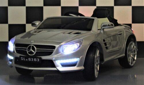 Mercedes Benz SL63 kinderauto zilver 12V 2.4G RC